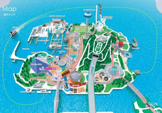 八景島シーパラダイス 島内マップ