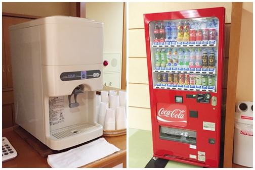 給水器と自動販売機
